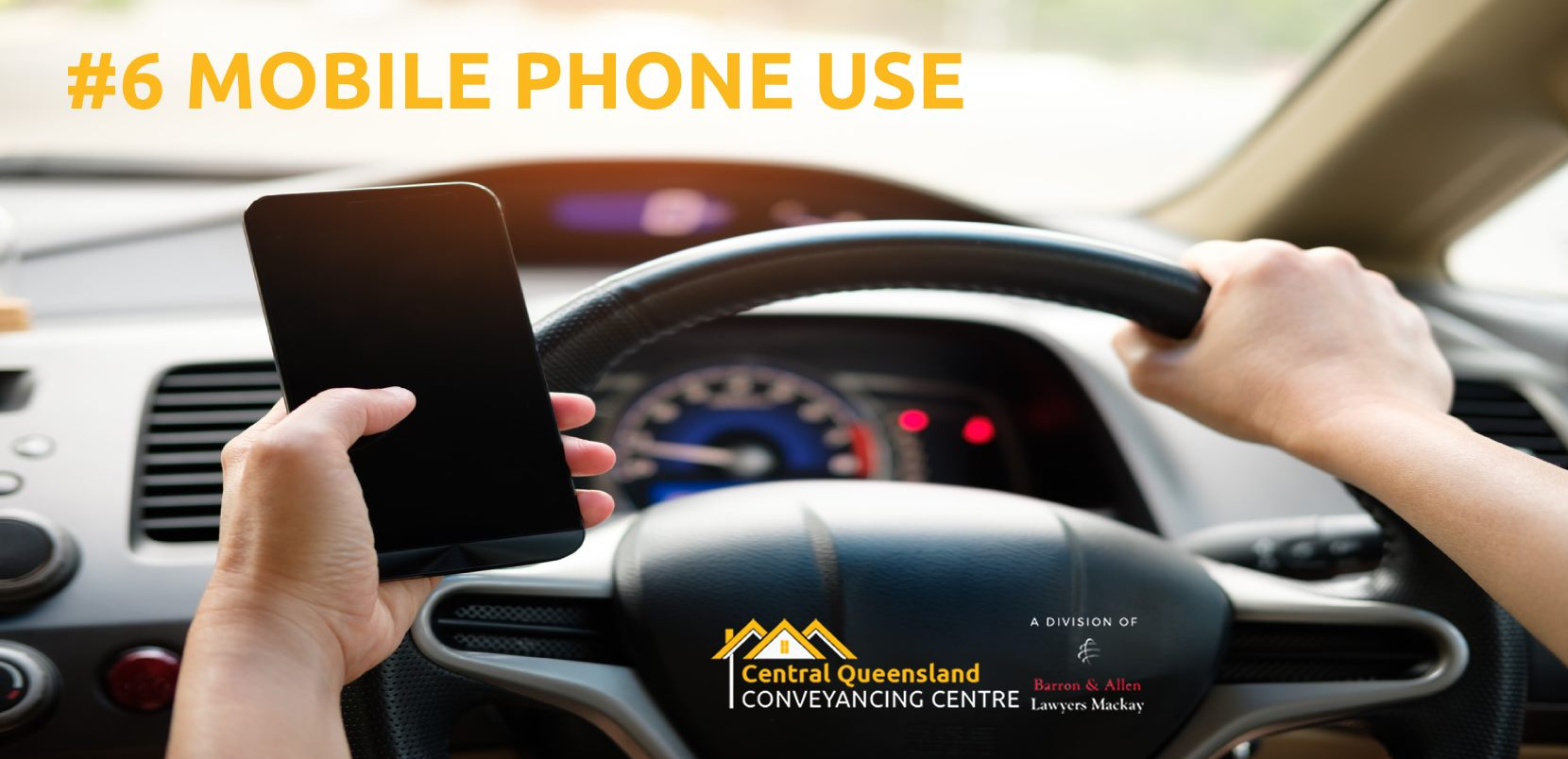 Driving Law Count Down #6- Mobile Phone Use Whilst Driving in Qld