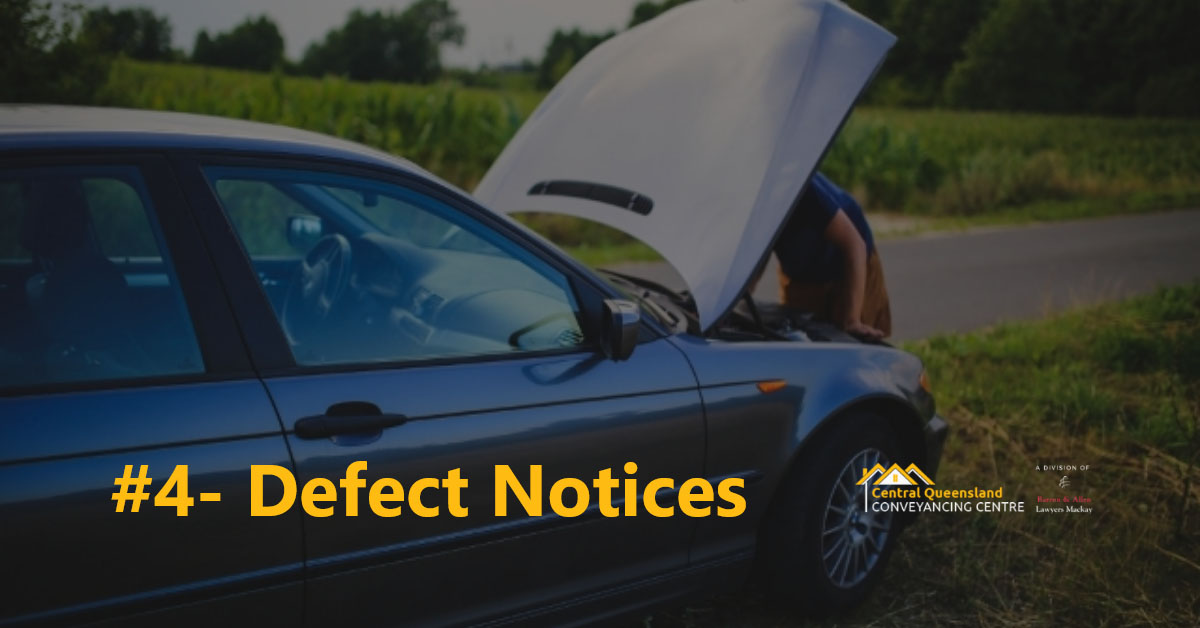 Driving Law Count Down #4- Defect Notices