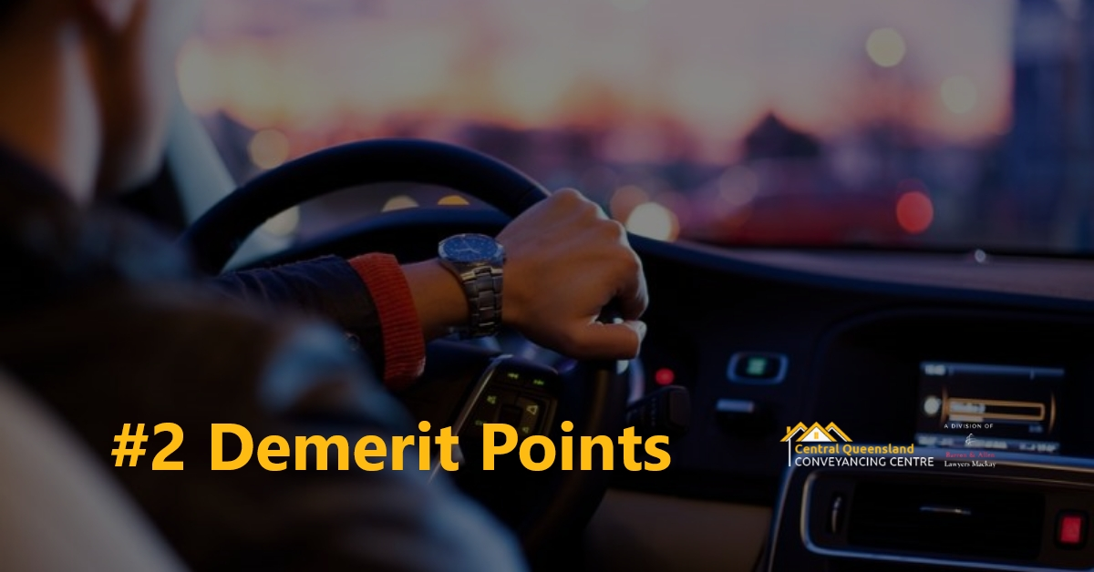 Driving Law Count Down #2 Demerit points